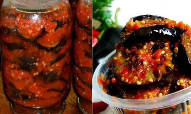 Vinete in suc de rosii si morcov- Se pastreaza foarte bine peste iarna