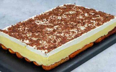 Reteta pentru un desert delicios, fara coacere, cu crema de galbenus de ou